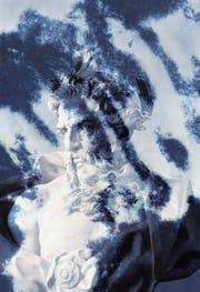 """Lara Atallah, """"Poseidon Print,"""" cyanotype print"""