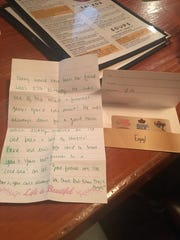 "A group of friends at Hessen Haus got a note from a stranger and a $10 gift card in remembrance of ""Cole,"" who would have celebrated his 27th birthday that day."
