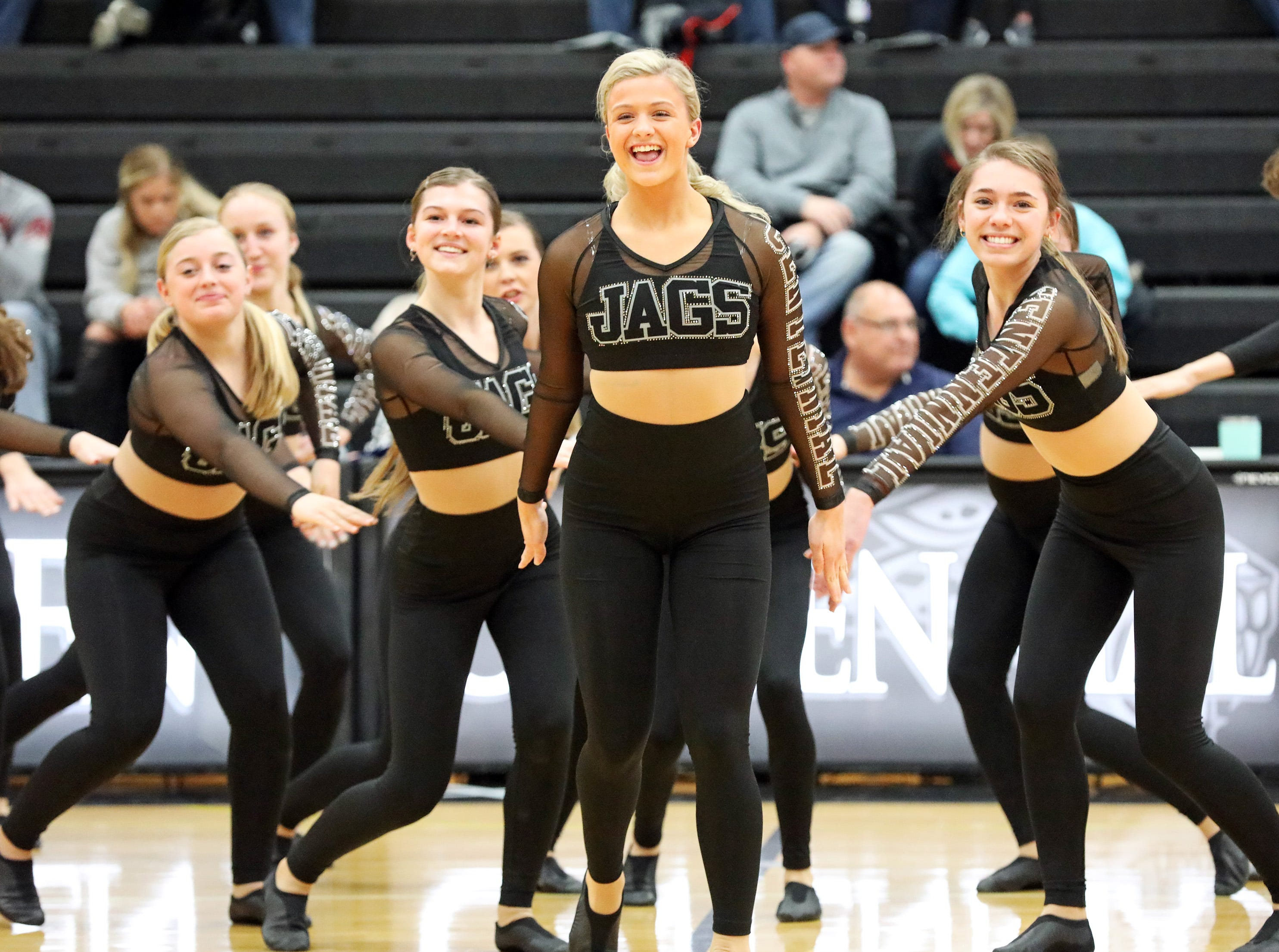 The half-time show featured the Ankeny Centennial Dance Team, which is the defending national champion in the Pom Division at the National Dance Alliance Championships held in Orlando, Florida.