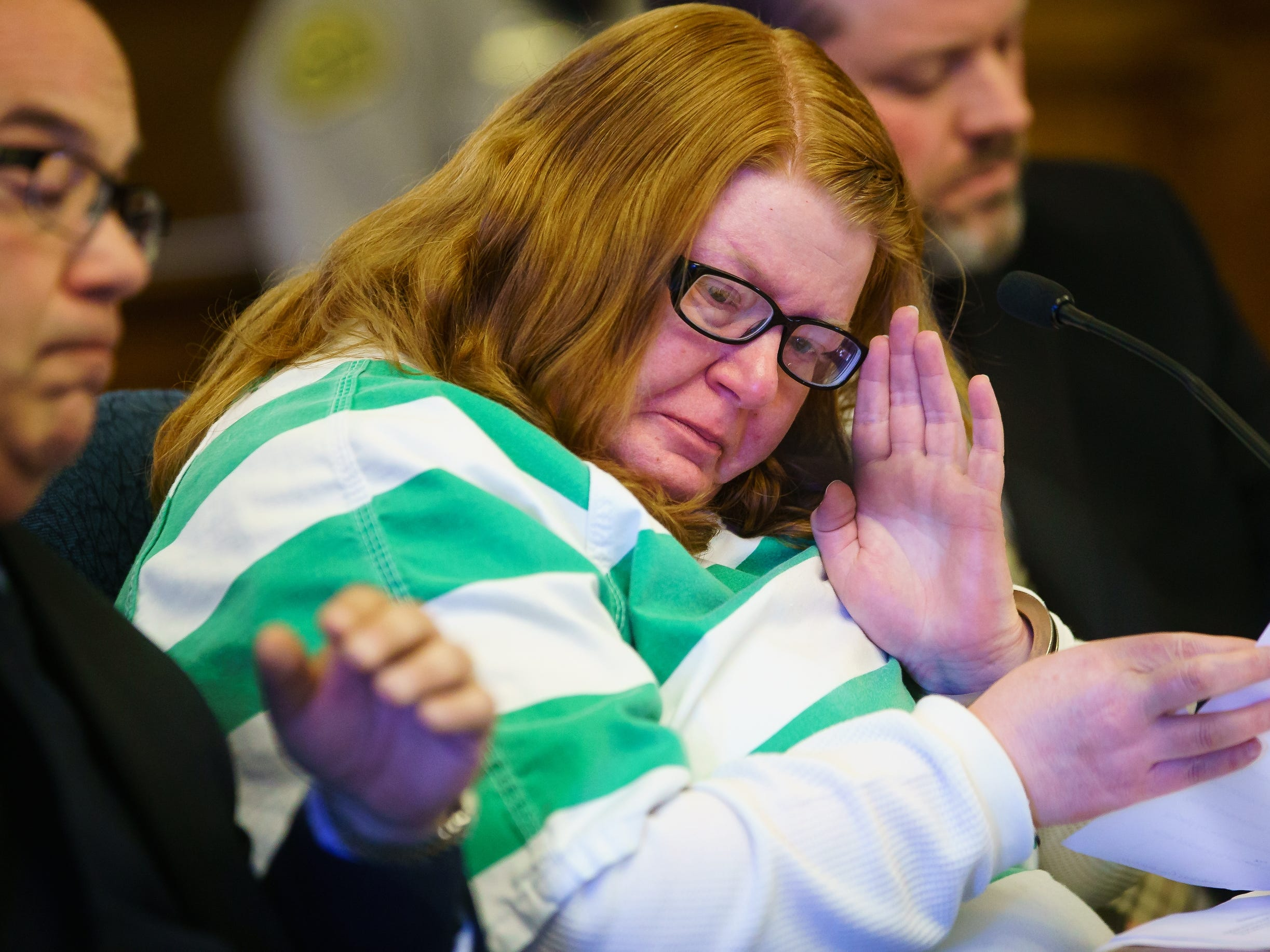 Misty Ray pleads guilty in the kidnapping and death of Sabrina Ray during a hearing at the Dallas County Courthouse on Wednesday, Jan. 9, 2019, in Adel.