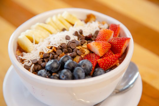 An Acai bowl from Main Street Cafe & Bakery at 801 Grand Ave. in the skywalk Wednesday, Jan. 9, 2019.