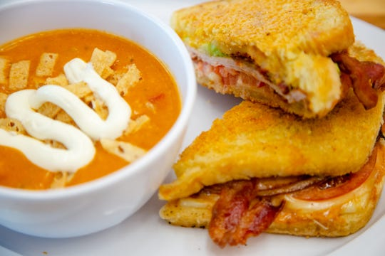 Turkey bacon avocado melt w/ cheesy chicken tortilla soup from Main Street Cafe & Bakery at 801 Grand Ave. in the skywalk Wednesday, Jan. 9, 2019.