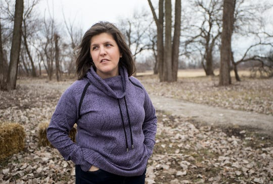 Toni Cooper, executive director of the River Raisin National Battlefield Park Foundation looks over the park during the government shutdown in Monroe, Mich., Tuesday, Jan. 8, 2019.