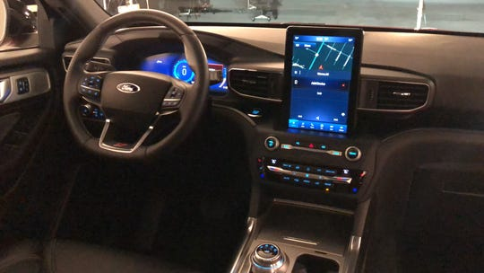 The 2020 Ford Explorer has an optional 10.1-inch tablet-style touch screen.