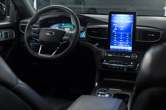 The new 2020 Ford Explorer features an optional 10.1-inch touch screen.