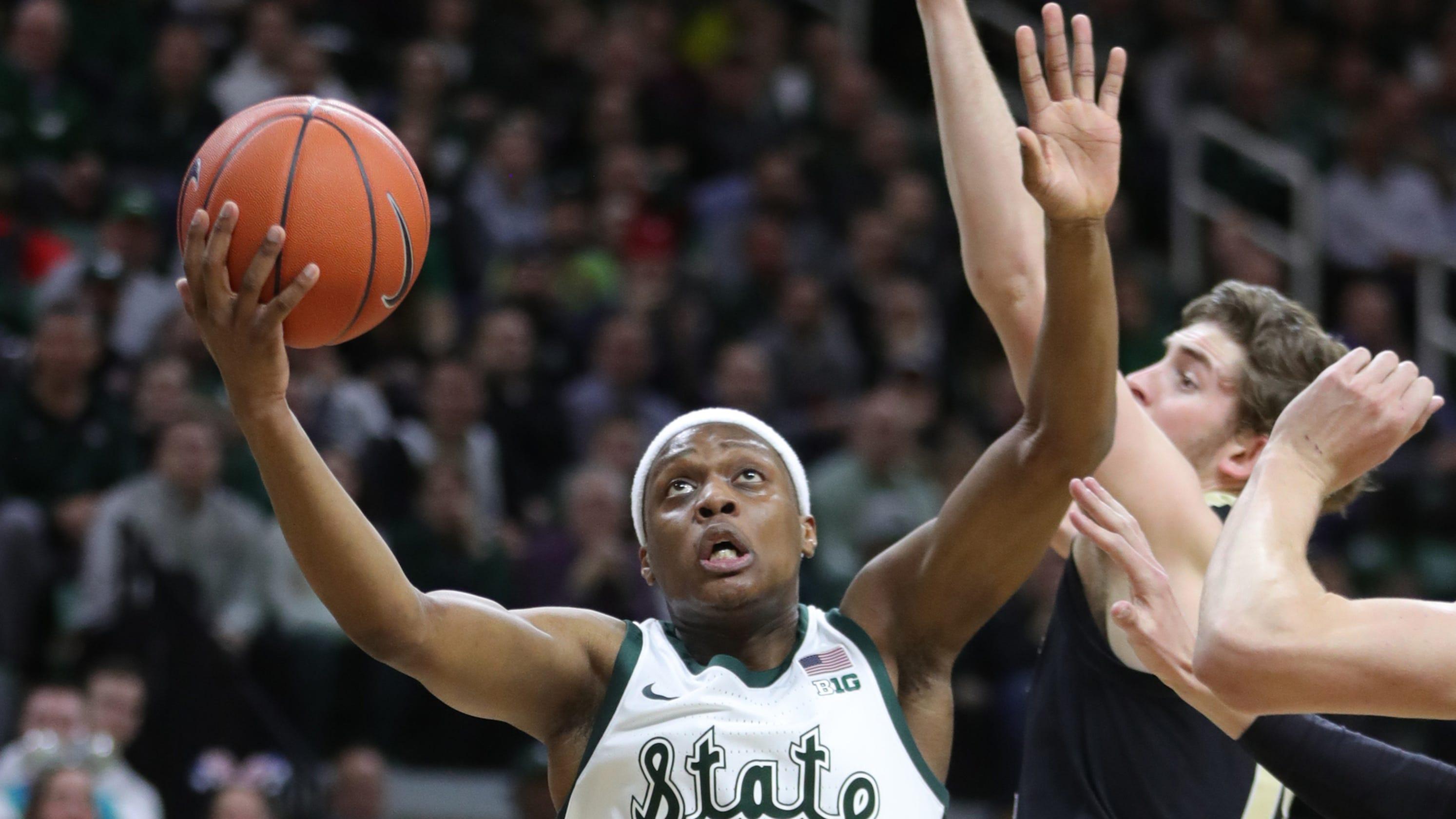 ca5ada3f35dd Michigan State basketball pushes past Purdue in 77-59 win
