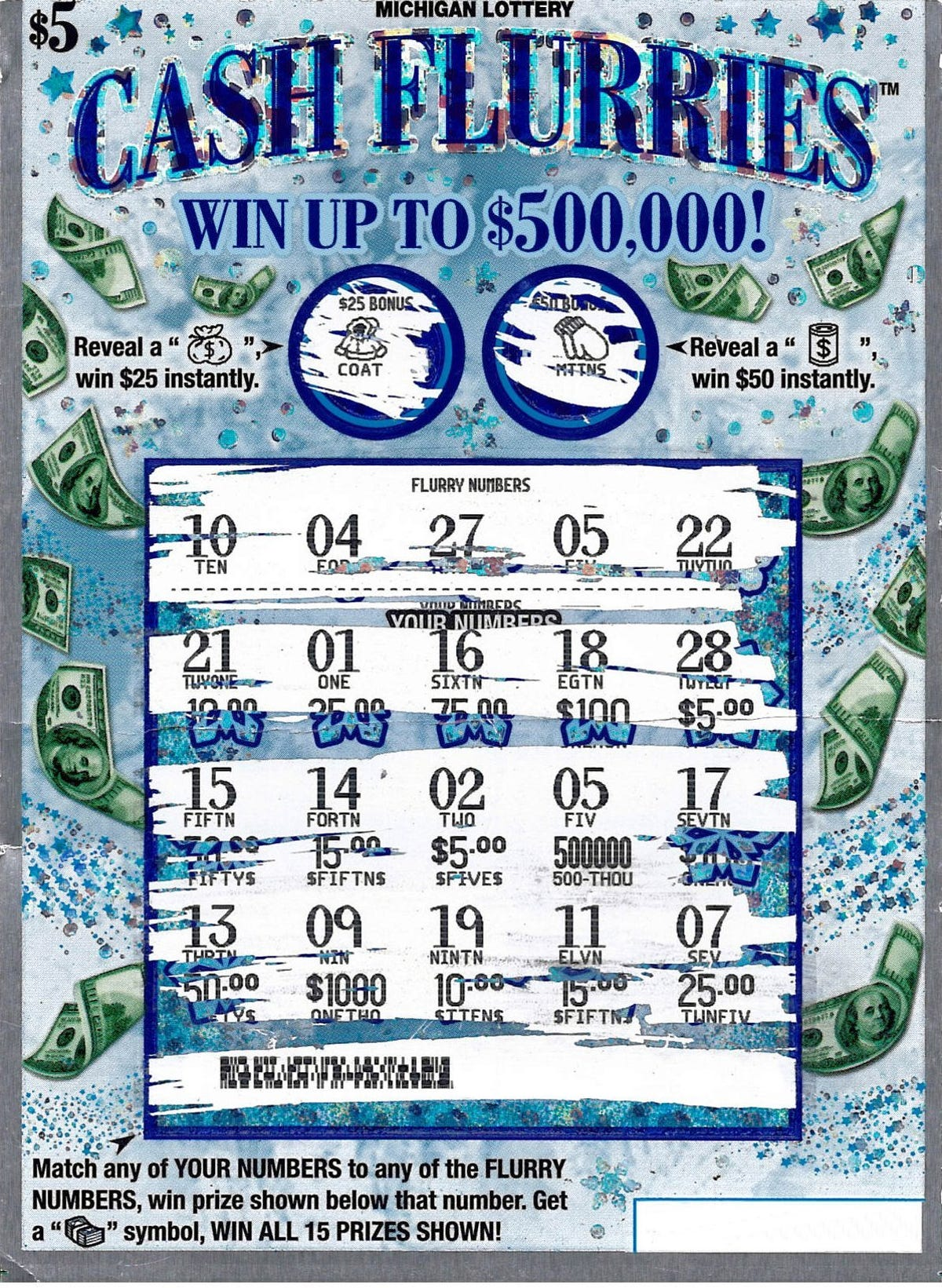 Michigan Lottery: Macomb Co  man wins $500K on instant ticket