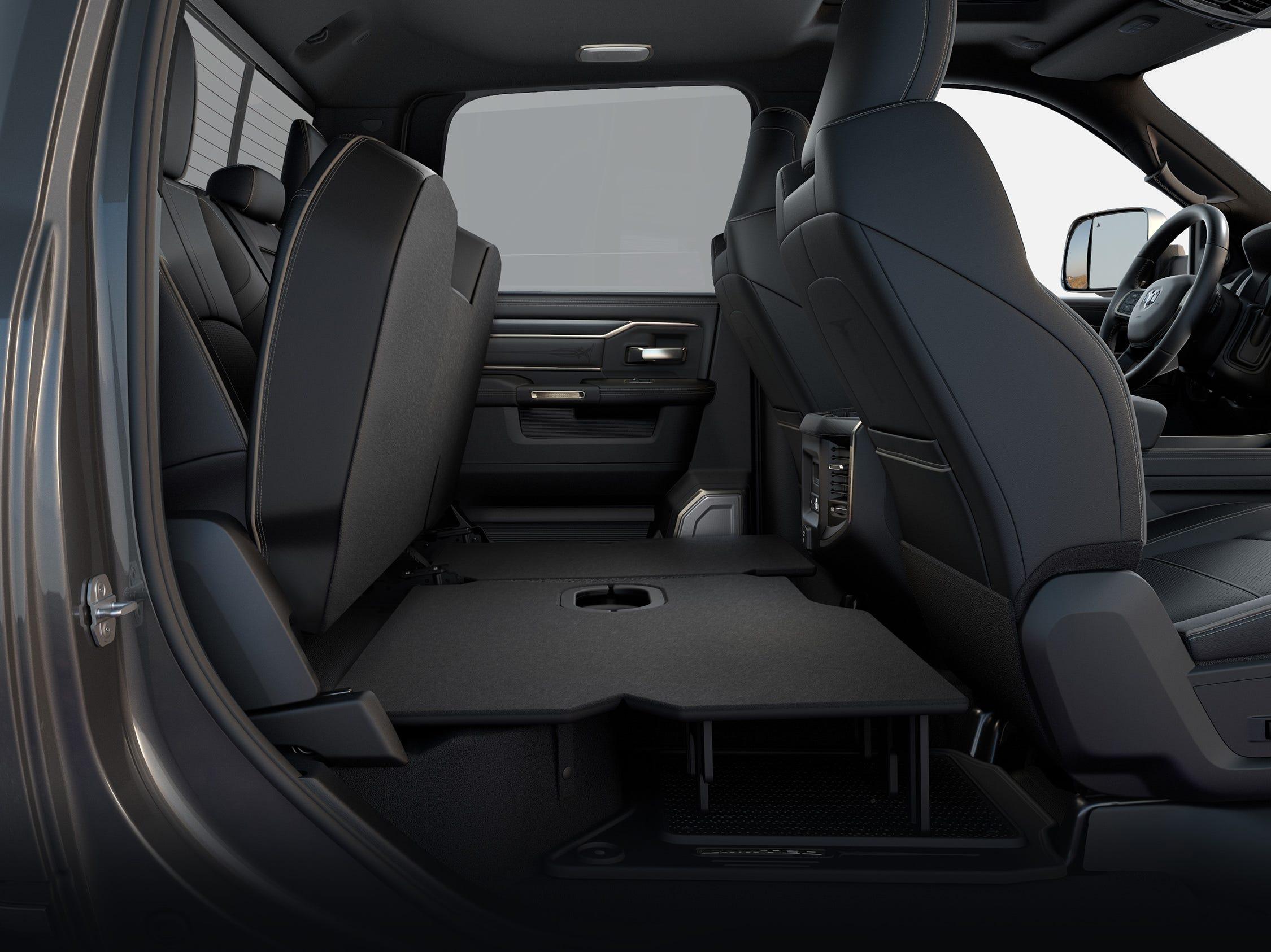 2019 Ram Heavy Duty Crew Cab rear seat profile flat-load floor