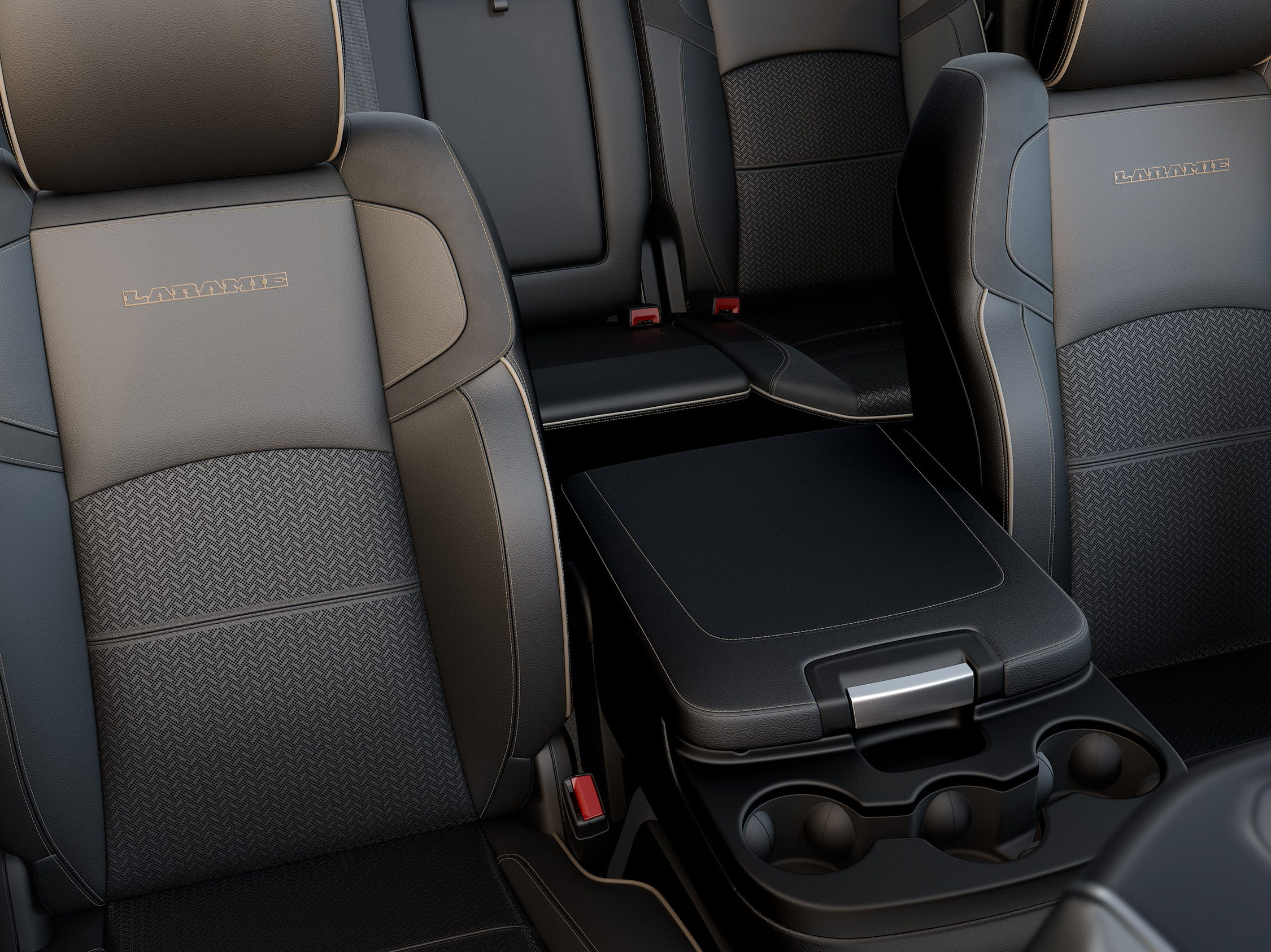 2019 Ram Heavy Duty leather bench console down