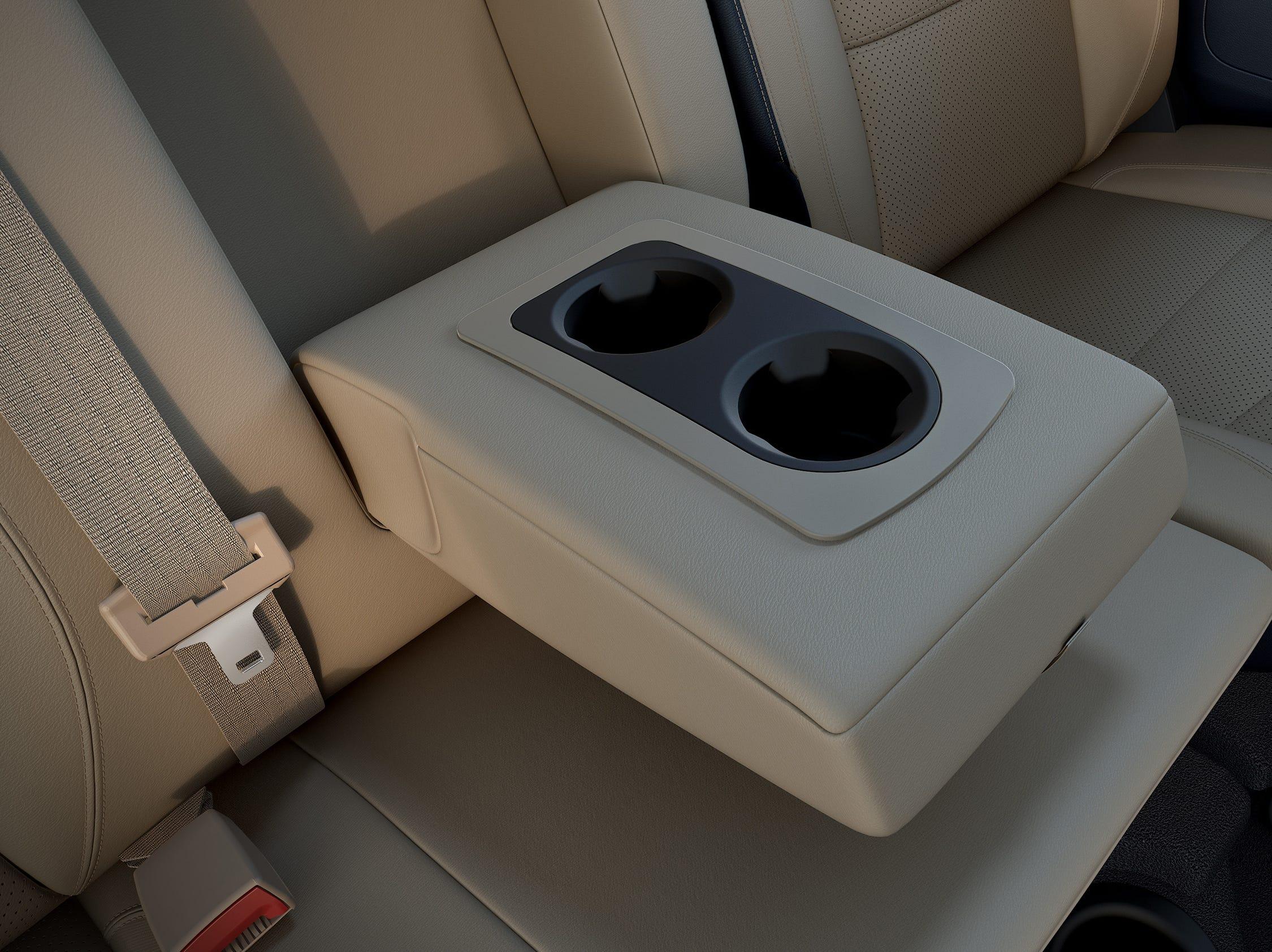 2019 Ram Heavy Duty rear seat center console folded down