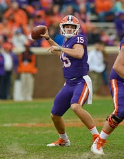 Clemson transfer quarterback Hunter Johnson will likely be the No. 1 quarterback on the Northwestern depth chart when the 2019 season begins.