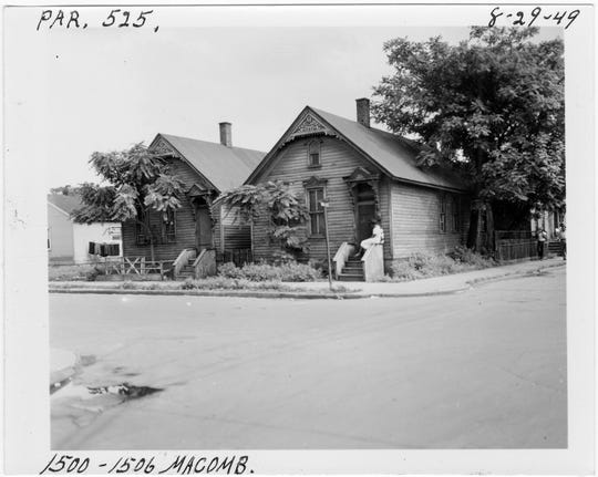 Many houses in Detroit's Black Bottom resembled those you see today in Corktown.
