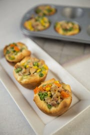 Chicken Pot Pie Cups. (Johanna Huckeba/St. Louis Post-Dispatch/TNS)
