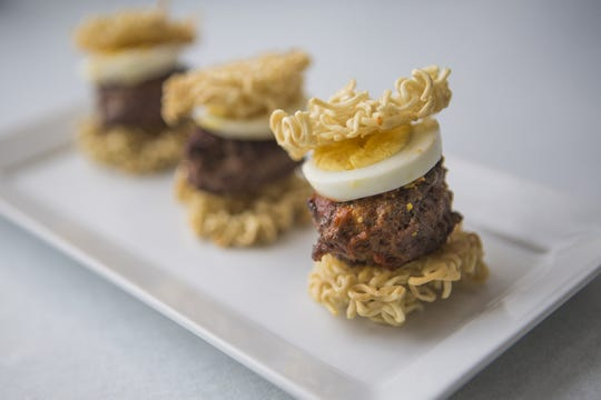 Ramen Sliders. (Johanna Huckeba/St. Louis Post-Dispatch/TNS)