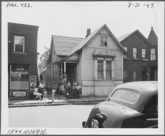 """Black Bottom Street View"" documents the look of the Detroit's long-lost African-American neighborhood, which was razed starting in the 1950s."
