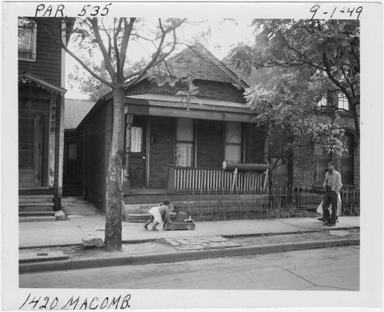 Black Bottom was razed in the 1950s to make room for Detroit's Lafayette Park.