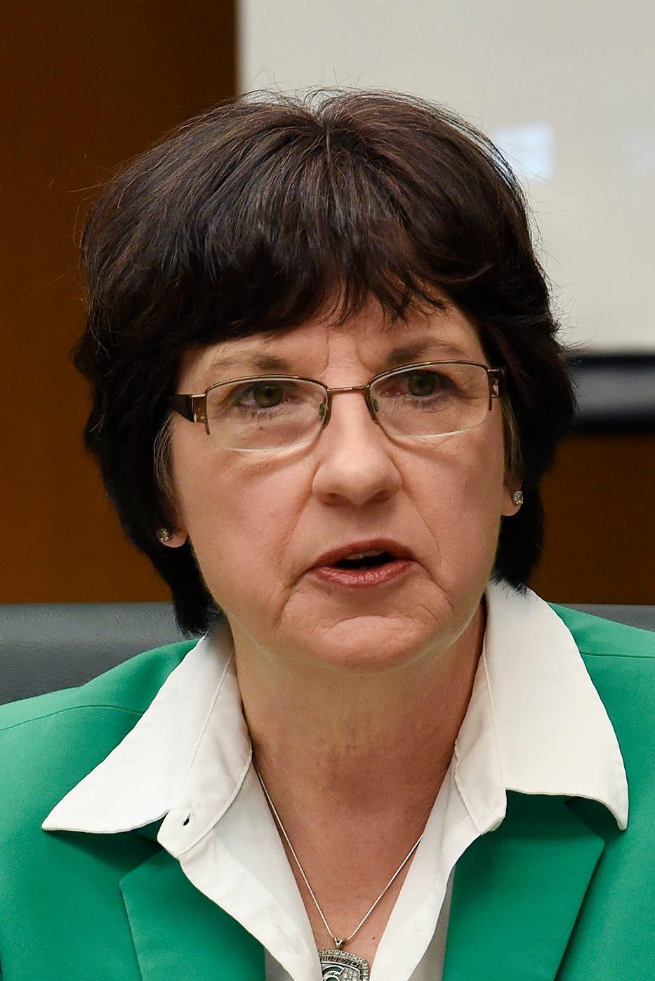 Dianne Byrum, chair of the MSU Board of Trustees.