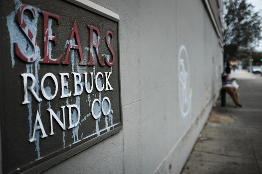 A Sears sign is displayed at a store in Brooklyn on October 15, 2018 in New York City.