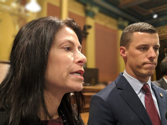 Attorney General Dana Nessel and House Speaker Lee Chatfield discuss new civil asset forfeiture reform legislation.