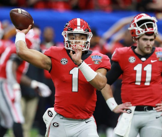 Former Georgia quarterback Justin Fields is hoping to become eligible immediately at Ohio State, much like Shea Patterson did last season when he left Ole Miss.