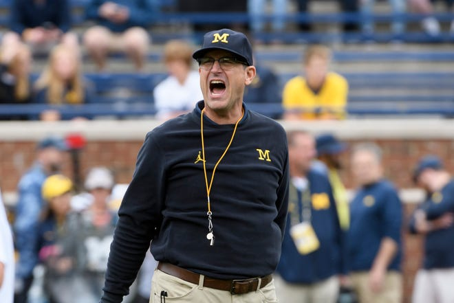 Michigan coach Jim Harbaugh might be wondering about his job security if he's not able to beat rival Ohio State in the regular season finale for 2019.