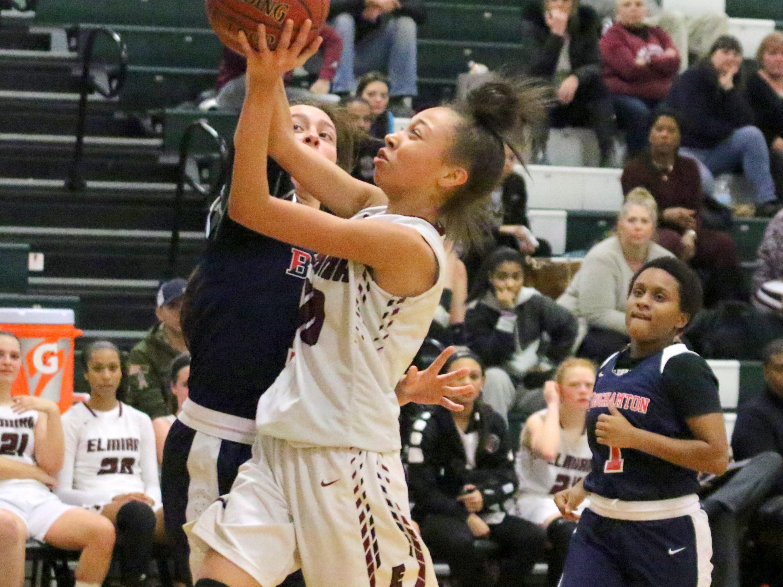 Elmira was a 72-43 winner over Binghamton in girls basketball Jan. 8, 2019 at Elmira High School.