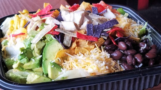 A colorful and healthy Southwest chicken salad from The Caboose.