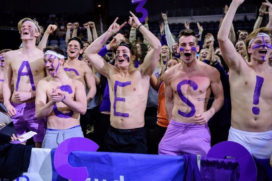 The UE student section was fired up for during the Aces' win over Loyola on Jan. 8.