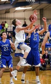 Winnebago Lutheran's Carson Nell along with guard Donovan Schwartz are averaging 32 points per game combined, coach Marty Nell said.