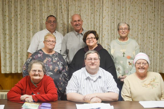 Members of Shiloh UMC have been working together on a yearlong celebration of the church's 175th anniversary. From left are, back row, lPastor Jeffrey Ridenour, Steve Ruth and Rosie Reno; middle row, Connie Carnicom and Becky Ruth; and seated, Sue Schoch, Michael Schoch and Phyllis Burks.
