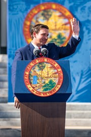 Florida governor Ron DeSantis was sworn into office on the steps of the Old Florida Captiol Building in Tallahassee on Tuesday.