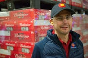 Brewmaster Patrick Fagan poses for a photo on the packaging line at the Anheuser-Busch Brewery in Fort Collins on Wednesday, January 9, 2019. Fagan joined the brewery earlier this month.