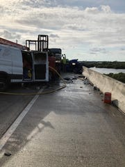 The Florida Highway Patrol was on the scene of a fatal crash on southbound I-75 on the bridge over the Caloosahatchee River.
