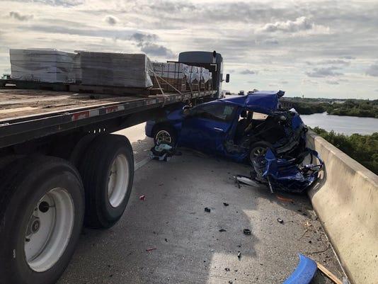 I-75 crash: One killed, infant critically injured in three-vehicle