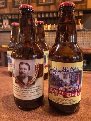 A label design captures the spirit of the George Walter Brewing Company on the front with a portrait of Walter on the back. The defunct brewery's flagship beer is back in limited release at Stone Arch Brewpub.
