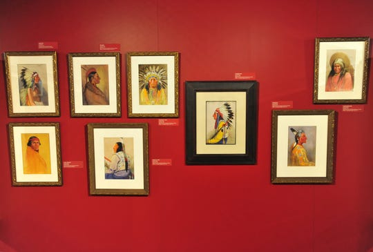 Joe Scheuerle exhibit of Native American portraits on display at the Montana Historical Society.