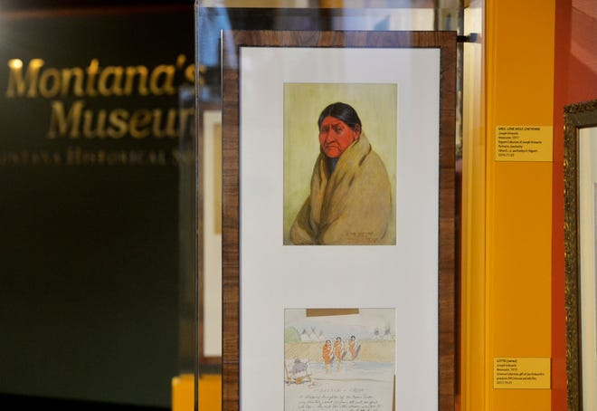 The Montana Historical Society in Helena is holding an exhibit of artist Joe Scheuerle's gouache portraits of Native Americans from the early 1900's.