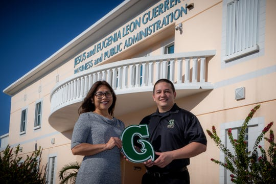 From left, Annette T. Santos, dean of the University of Guam's School of Business & Public Administration; and John J. Rivera, assistant professor of public administration and Professional Master of Business Administration program chairman at UOG.