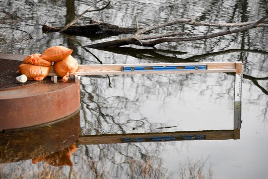 While the lake level at Audubon State Park's Scenic Lake has returned to normal, phase-two of the dam rebuild project will lower levels eight feet next summer Thursday, January 3, 2019.
