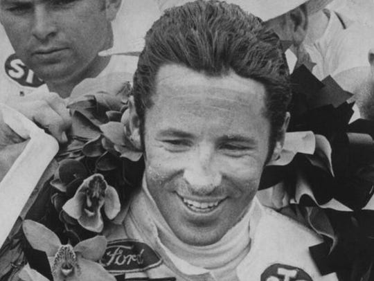 Mario Andretti is shown after winning the 1969 Indianapolis 500.