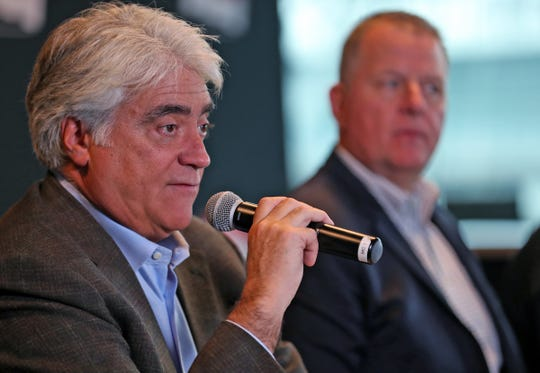 """Hulman & Company CEO Mark Miles, shown in a file photo, said Thursday: """" We believe a big part of qualifying is the drama around the possibility that a car isn't going to get in. """""""