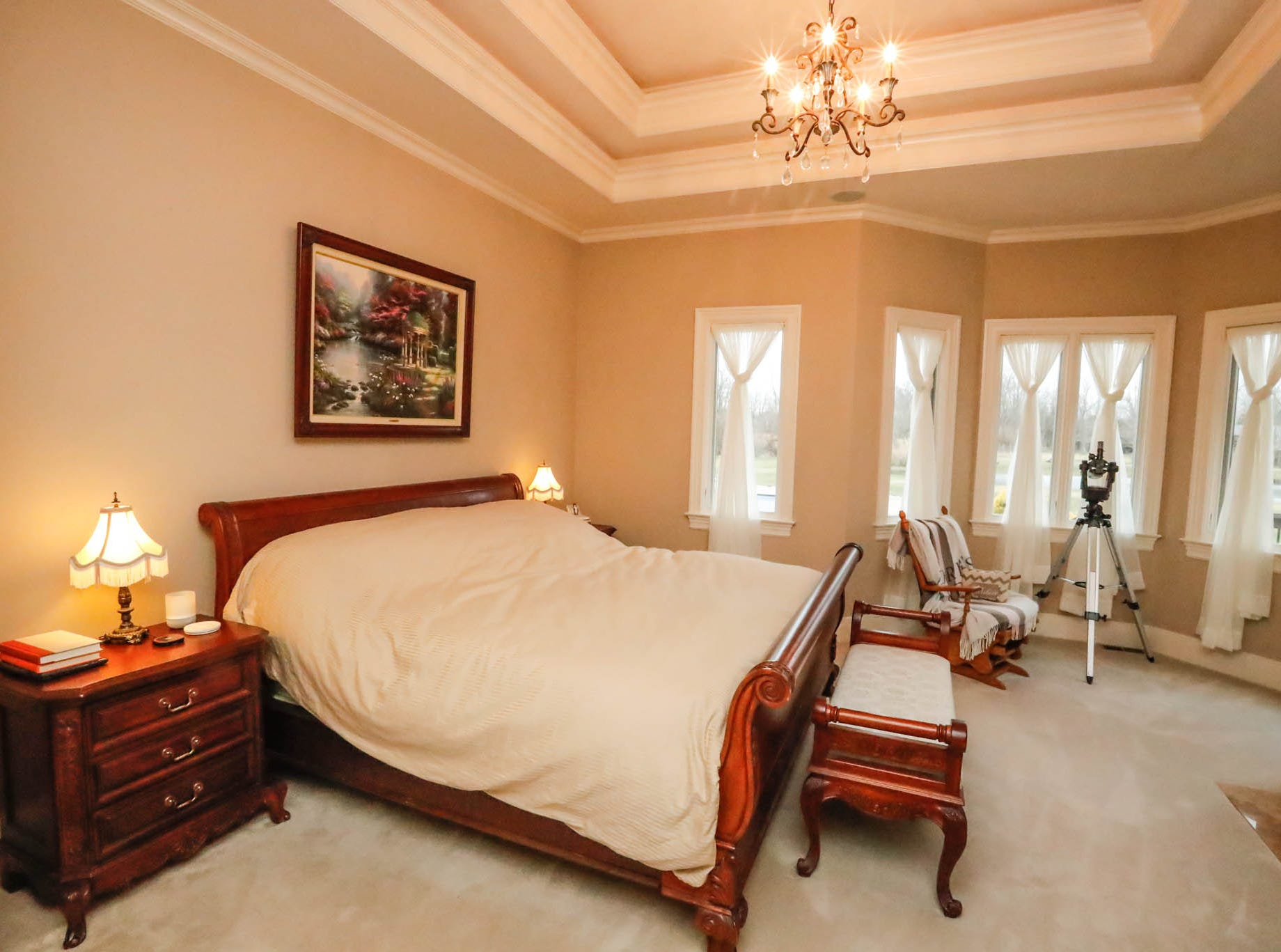 The master suite features a large walk-in closet and master bath in a traditional $2m home up for sale in Bargersville Ind. on Wednesday, Jan. 9, 2019. The house sits on 8.1 acres.