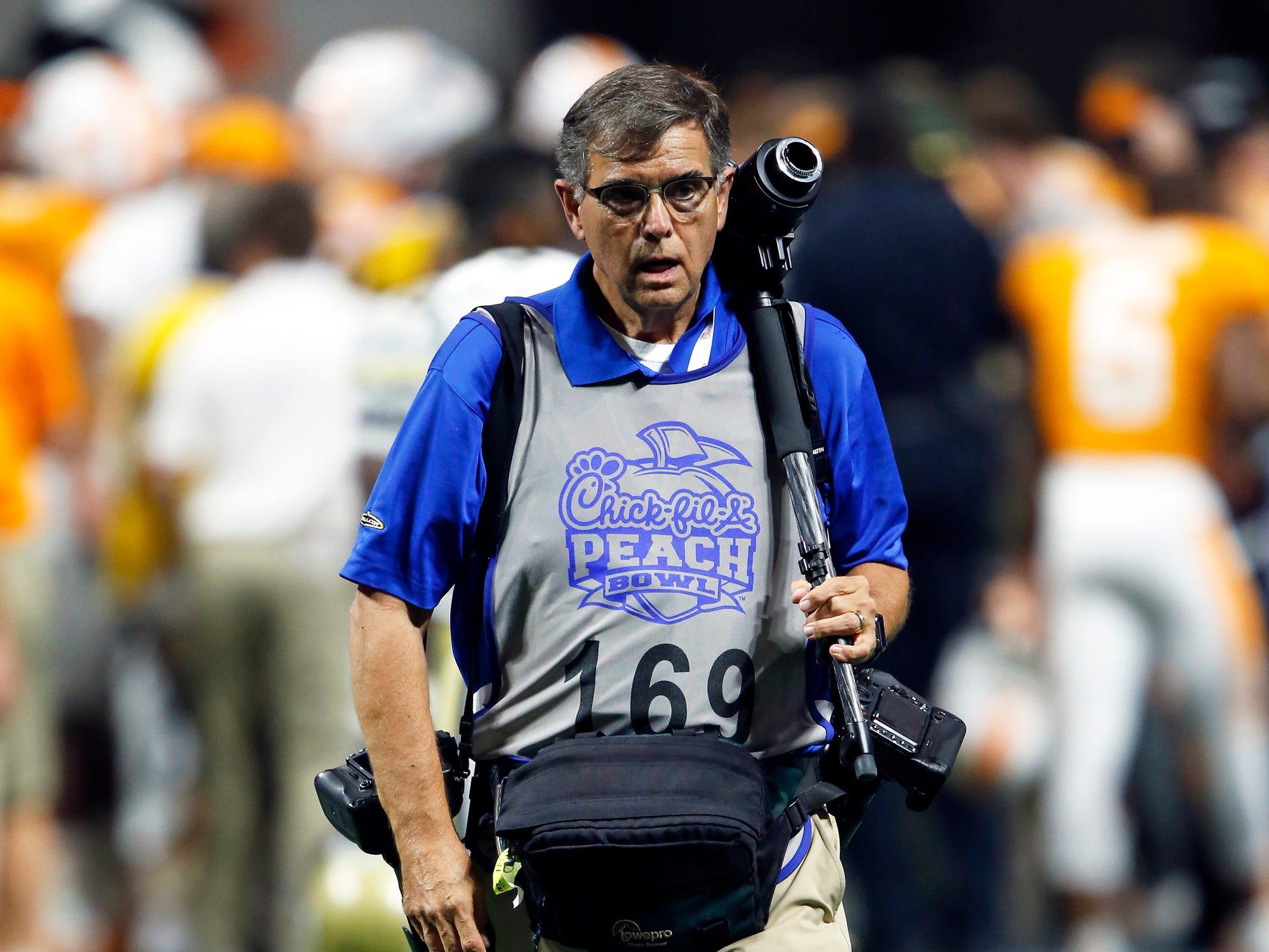 News Sentinel Senior Photojournalist during an NCAA football game Monday, Sept. 4, 2017, in Atlanta, GA.