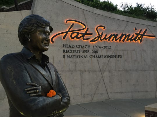 The Pat Summitt Plaza on the first anniversary of her death.