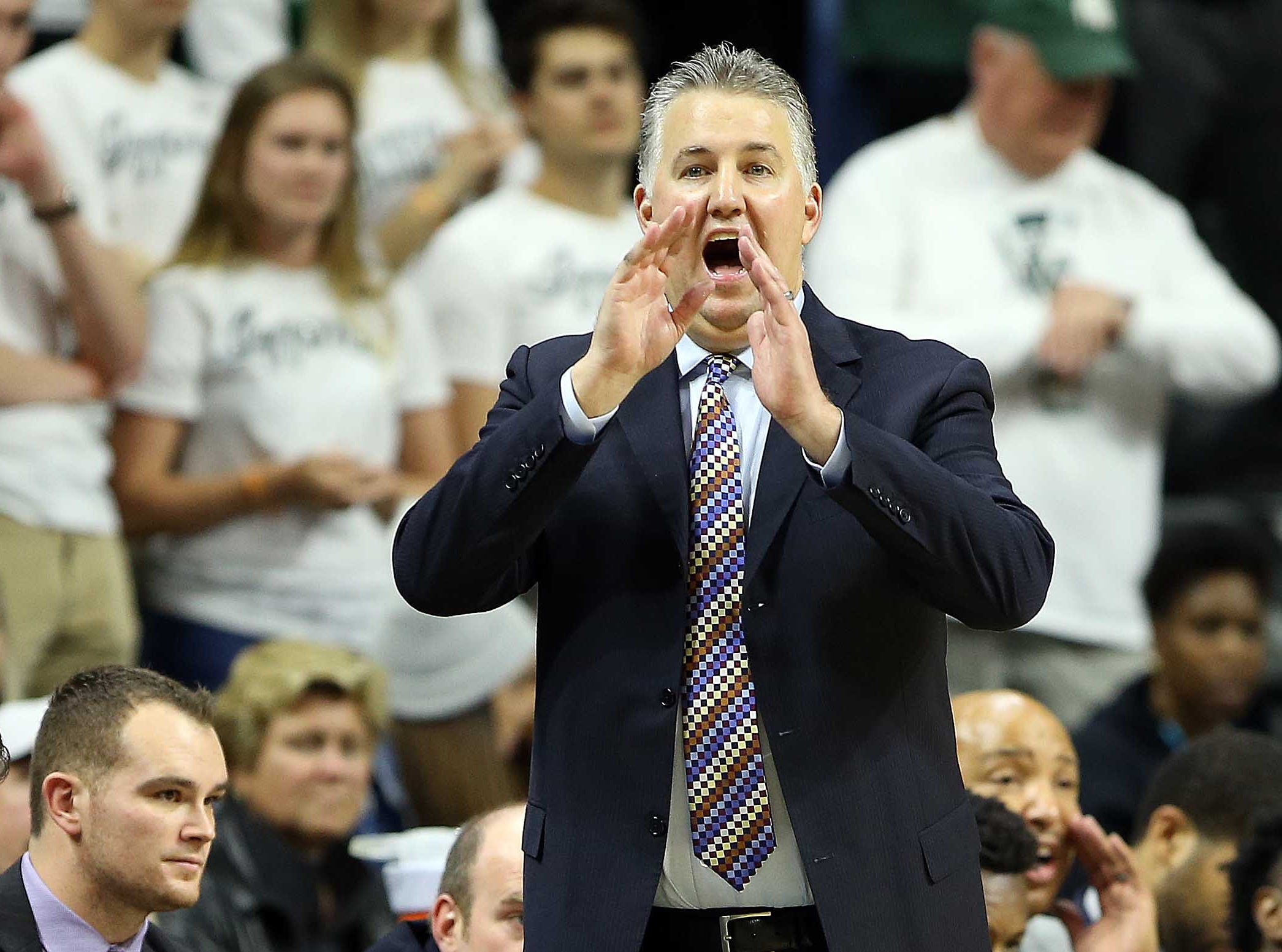 Jan 8, 2019; East Lansing, MI, USA; Purdue Boilermakers head coach Matt Painter reacts during the second half of a game against the Michigan State Spartans at the Breslin Center. Mandatory Credit: Mike Carter-USA TODAY Sports