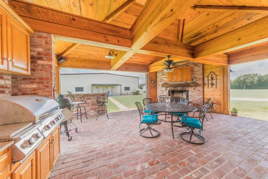The beautiful outdoor space offers lots of room for entertaining.