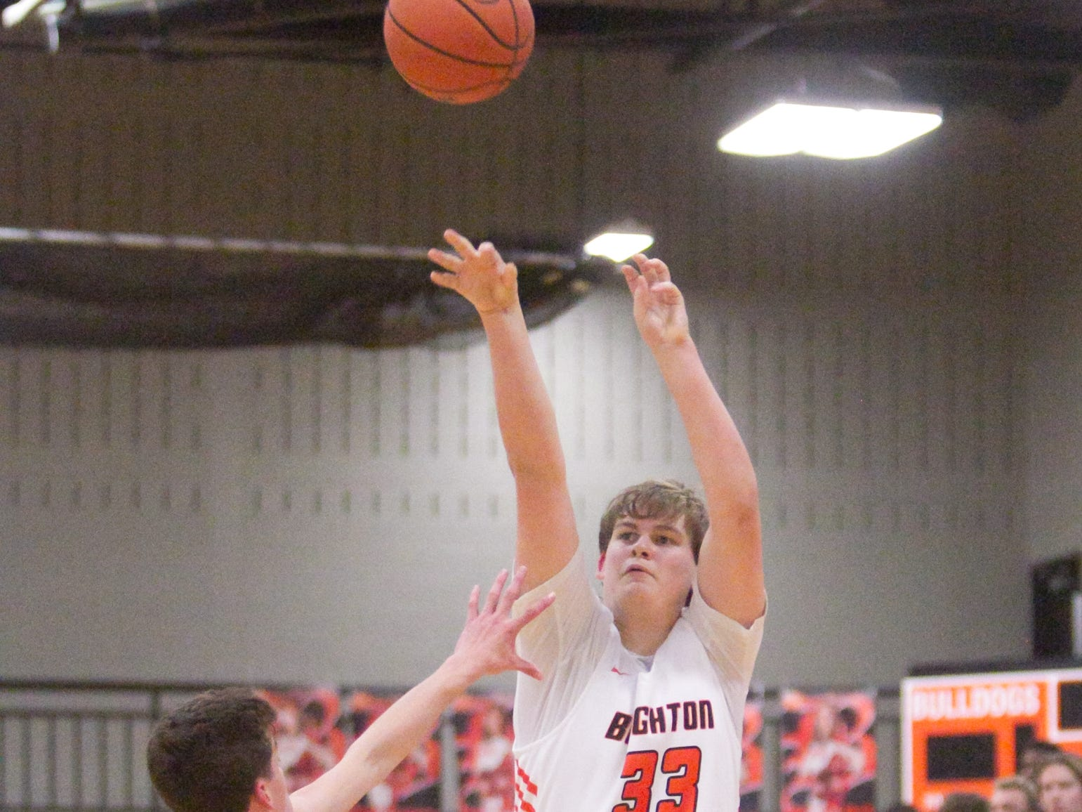 Shane Armstrong's three-pointers kept Brighton close to Howell, who overtook the Bulldogs in overtime Tuesday, Jan. 8, 2019.