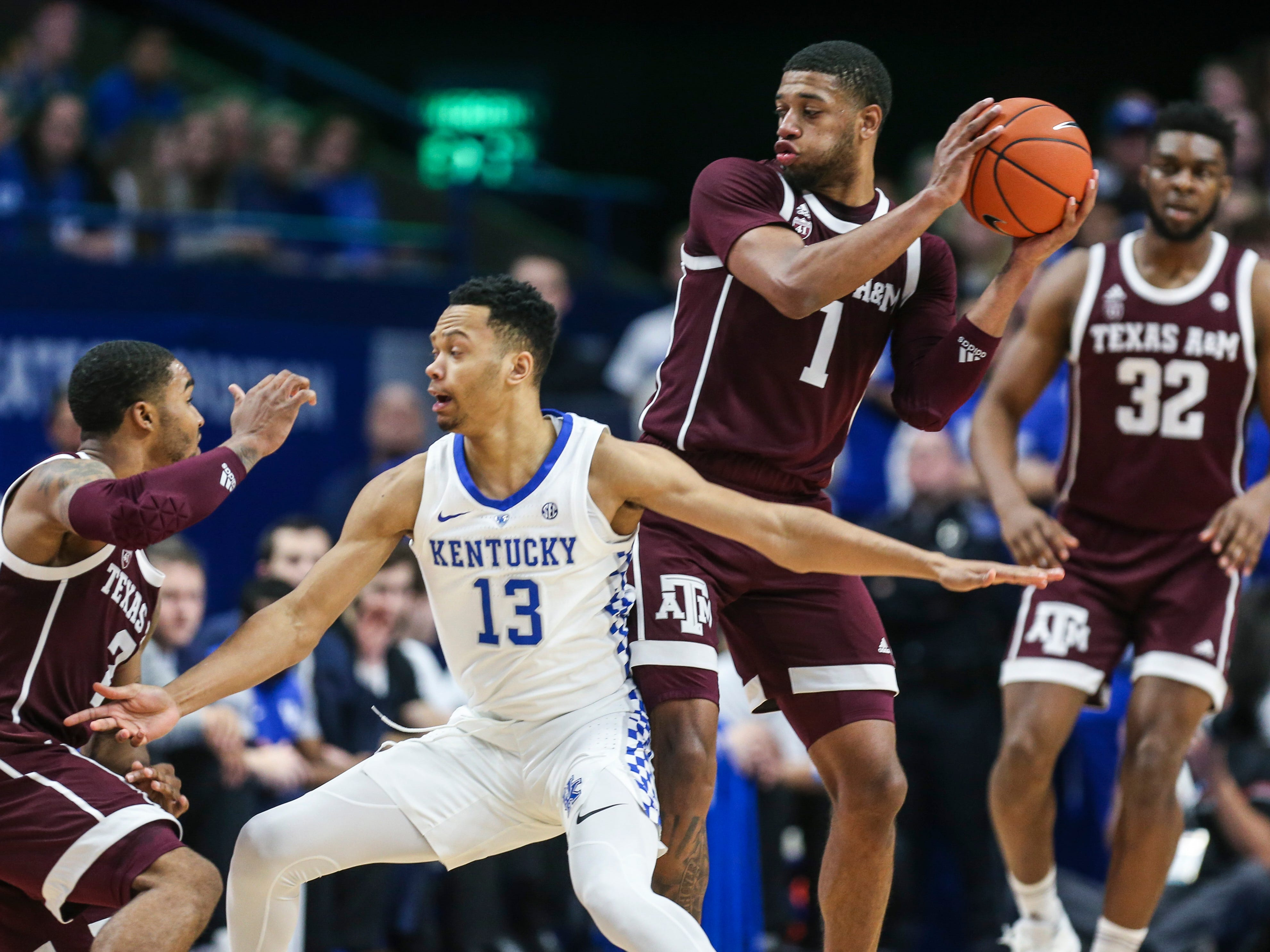 Kentucky's Jemarl Baker had just four points but was lauded by coach John Calipari after the Wildcats' win over Texas A&M.  January 8, 2019