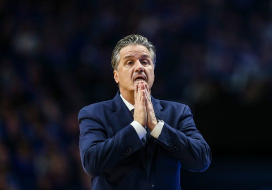 John Calipari had to sweat a little bit at times during Tuesday's win over Texas A&M.