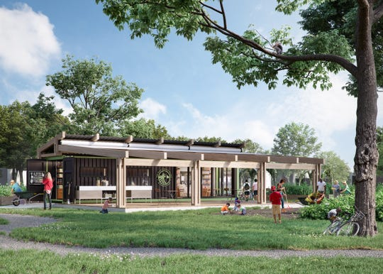 Rendering of a pavilion that the Food Literacy Project expects to open at its Iroquois Farm in spring 2019.